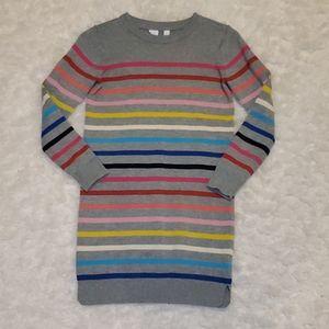 Gap Girls size Large Striped Rainbow Sweater Dress